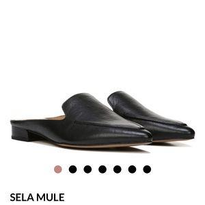 FrancoSarto Black Sela Mule